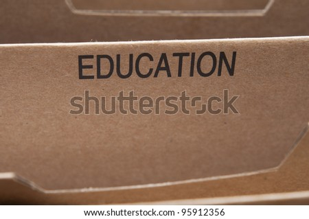 Education documents and certificates filing - stock photo