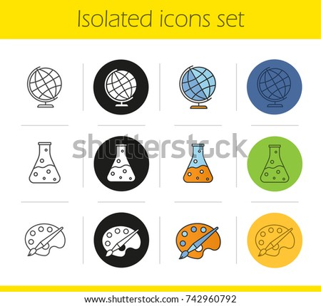 Education Icons Set Linear Black Color Stock Illustration 742960792