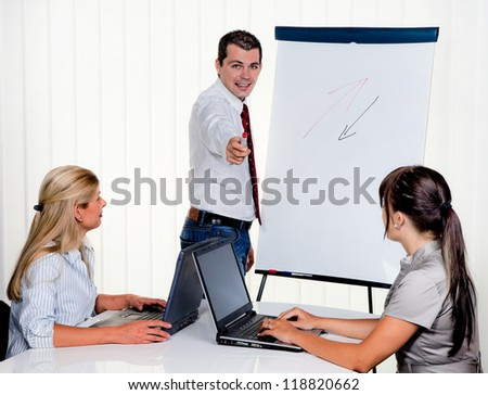 education in employee training for young adults - stock photo