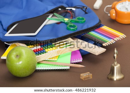 education objects over table