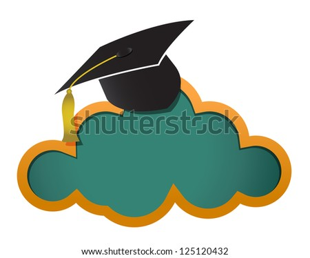 Education online cloud board illustration design graphic - stock photo