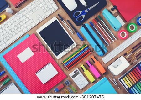 Education or school tablet mockup background