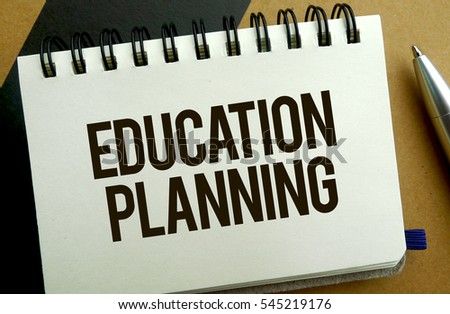 Education planning memo written on a notebook with pen