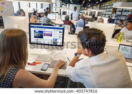 Education Teenager Knowledge Learning Concept - stock photo