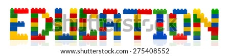 Education word build from toy building blocks.
