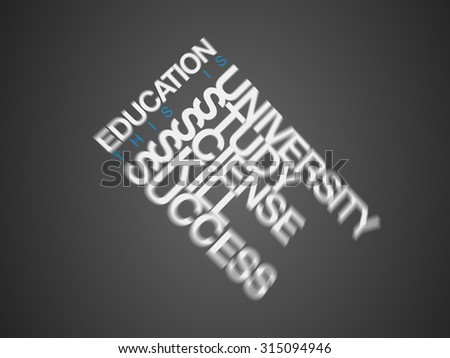 EDUCATION. Word business collage - stock photo