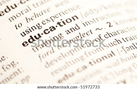 education word closeup - stock photo