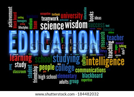 Education word cloud concept image - stock photo