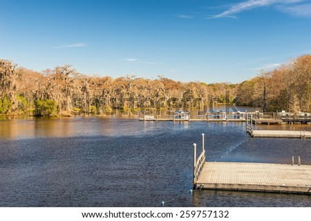 Edward Ball Wakulla Springs state park.  This florida state park is located south of Tallahassee, Florida. - stock photo