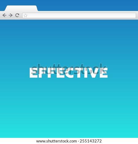 EFFECTIVE - stock photo