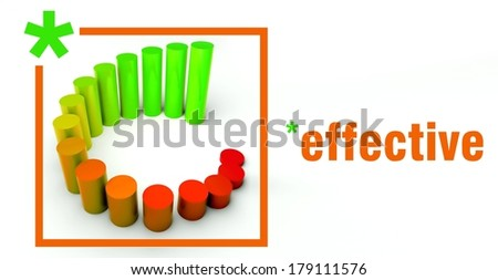 Effective business concept, rising graph chart - stock photo