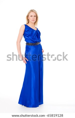 Effective woman in a  fashion dress - stock photo