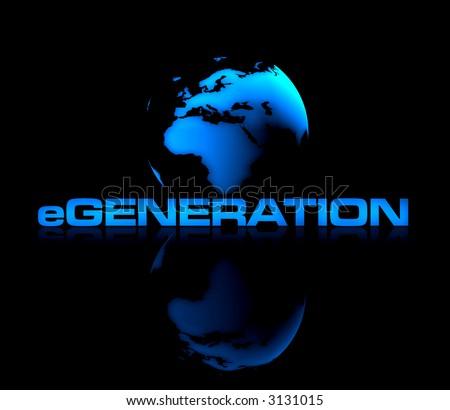 eGeneration - stock photo
