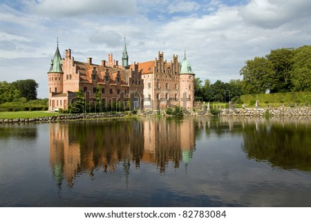 Egeskov castle - stock photo