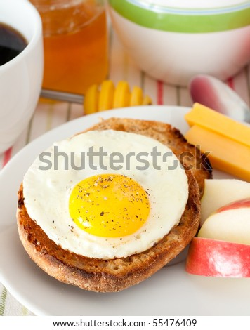 Egg and Wholegrain Muffin Sandwich