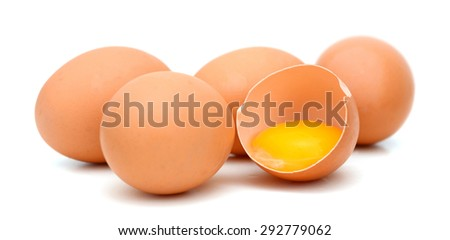egg collection isolated on white background  - stock photo
