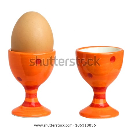 egg cups - stock photo