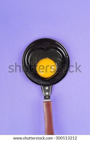 Egg frying pan - stock photo