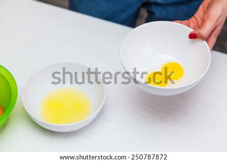 egg in a cup in the kitchen - stock photo