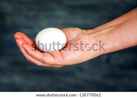 Egg in hand