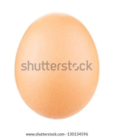 Egg Isolated on white - stock photo