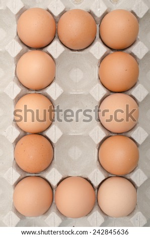 egg number - stock photo
