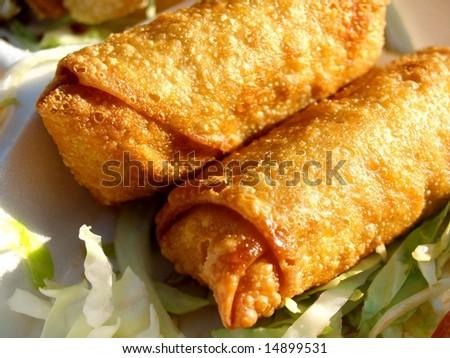 Egg rolls eggrolls - stock photo