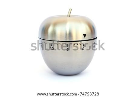 Egg timer isolated on white background. - stock photo
