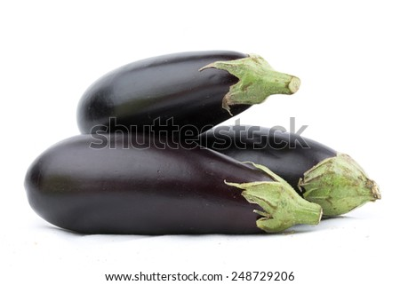 Eggplant Isolated - stock photo
