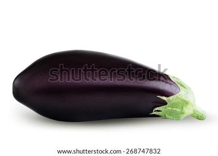 eggplant isolated on white background - stock photo