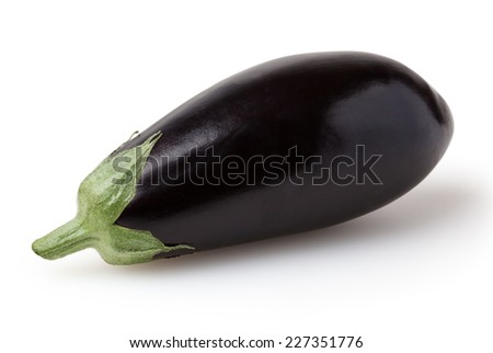 Eggplant isolated on white background with clipping path - stock photo