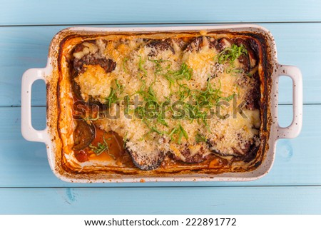 Eggplant with Parmesan Cheese - stock photo