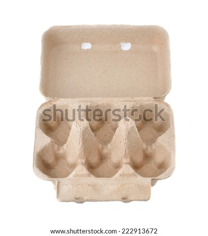 Eggs Box Container or Eggs Carton Blank Package - stock photo