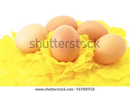 Eggs Easter symbol decorative holiday - stock photo