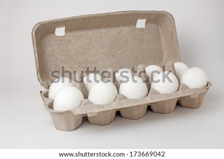 Eggs in a case - stock photo