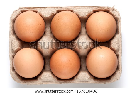 Eggs in carton - stock photo