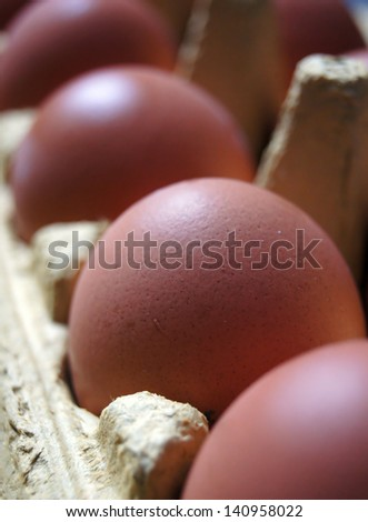 Eggs in line