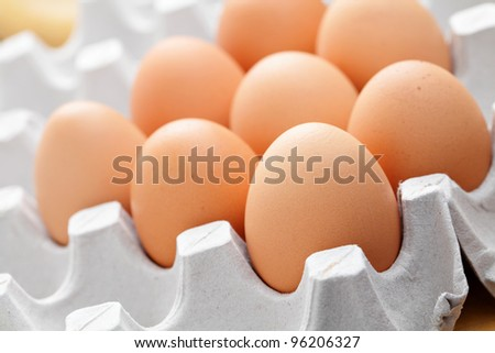 eggs in package - stock photo