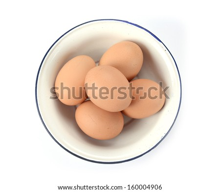 eggs in the bowl - stock photo