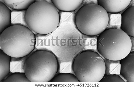 eggs in the package gray scale .chicken egg background