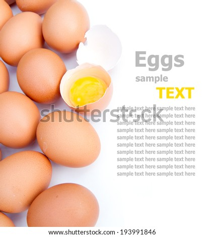 eggs isolated on white background   - stock photo