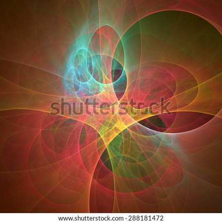 Eggs Perspective abstract illustration - stock photo