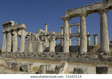 Egine, Greece, temple of Aphaia in the island of Aegina