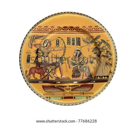 egipet old dish close up - stock photo