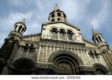 Eglise (Church) du Bon-Pasteur. Lyon, France. - stock photo