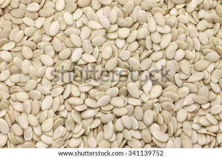 egusi seeds without shells, african watermelon seeds, egusi soup ingredient - stock photo