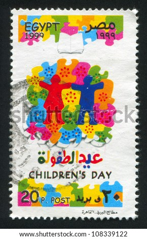 EGYPT - CIRCA 1999: stamp printed by Egypt, shows Puzzle, circa 1999