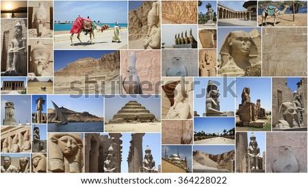 EGYPT COLLAGE  - stock photo