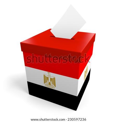 Egypt election ballot box for collecting votes - stock photo