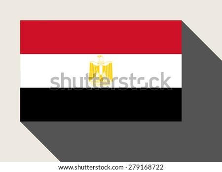 Egypt flag in flat web design style. - stock photo
